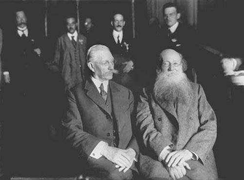 П.А.Кропоткин и П.Н.Милюков, 1917 год