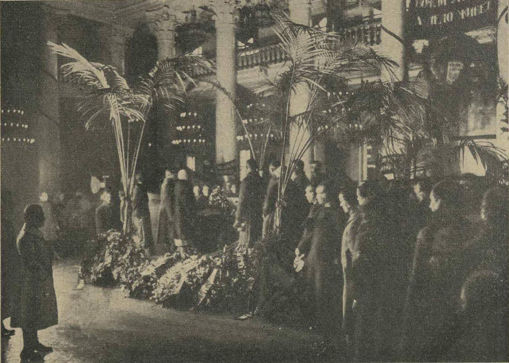 Прощание с П.А.Кропоткиным в Доме Союзов, 13 февраля 1921 года