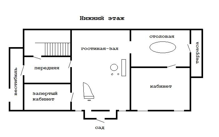 Нижний этаж дачи Пальса
